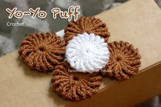 crochet yoyo puff - great tutorial!! The uses for these little yoyos are endless!!!