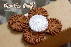 crochet yoyo puff ~ tutorial
