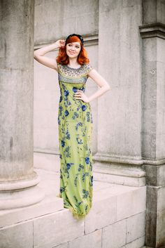 Gatsbylady London Elizabeth Prom Gown in Lime Royal Blue Dress Outfits, Fashion Outfits, Fasion, Royal Blue Gown, Redhead Fashion, Bridesmaids And Mother Of The Bride, Clothing Blogs, Warm Weather Outfits, Clothes Horse