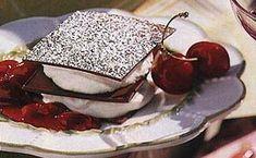 This recipe originally accompanied Chocolate Napoleons with Mascarpone Cream and Cherry Compote . Fruit Recipes, Baking Recipes, Dessert Recipes, Just Desserts, Delicious Desserts, Cherry Compote, Cherry Brandy, Chocolate Fudge, Chocolate Desserts