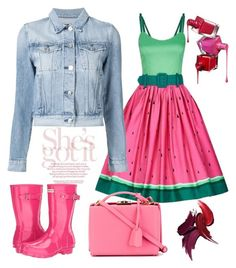 """""""Watermelon"""" by felidzi on Polyvore featuring Hunter, Collectif, 3x1 and Mark Cross"""