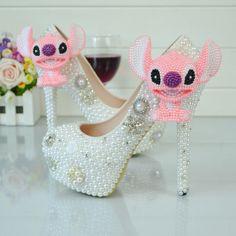 Wedding Shoes Multi Crystal Pearl Rhinestone Diamond Flower High Heels Women Pumps 3