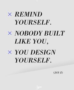Jay Z - Design Yourself