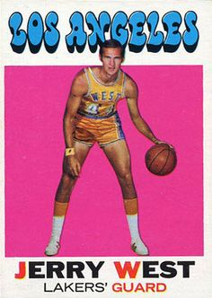 Topps Vintage Basketball Card   Jerry West • #44 • Mr Clutch • Lakers • NBA Man