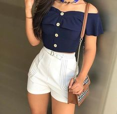 46 - Summer season clothes of 2019 year, Teen Fashion Outfits, Look Fashion, Girl Outfits, Fashion Dresses, Womens Fashion, Cute Casual Outfits, Short Outfits, Short Dresses, Summer Outfits