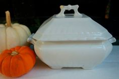 Antique English Ironstone Covered Dish by ironstonevintage on Etsy