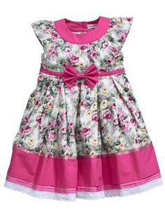 Girls Floral Bow Dress, http://www.littlewoods.com/ladybird-girls-floral-bow-dress/1373260291.prd