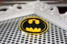 Batman Batgirl Yellow Black Batman Hair Clip by MadEli on Etsy, $3.00