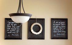DIY Chalkboard Frames for under $20 via @Brittney Anderson