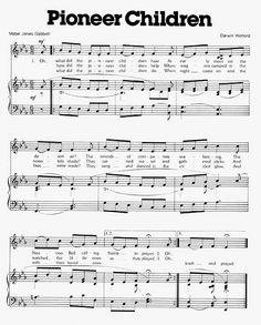 Music, Pioneer Children