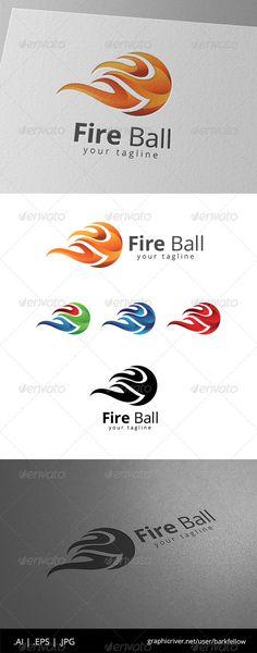 Fire Ball Burn Logo — JPG Image #football #melt • Available here → https://graphicriver.net/item/fire-ball-burn-logo-/8619950?ref=pxcr