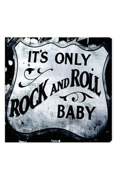 Oliver Gal 'It's Only Rock & Roll, Baby' Wall Art | Nordstrom