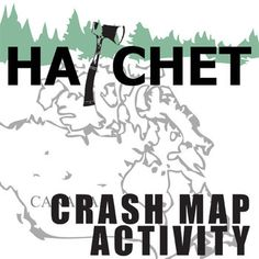 HATCHET Crash Map Activity (by Gary Paulsen)                                                                                                                                                                                 More 6th Grade English, Middle School English, Middle School Ela, Middle School Teachers, Middle School Novels, High School, Problem Solving Activities, Reading Activities, Map Activities