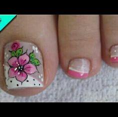 Toenail Art Designs, Crazy Nail Designs, Fall Nail Art Designs, Pedicure Designs, Pretty Toe Nails, Cute Toe Nails, Toe Nail Art, Feet Nail Design, Art Français