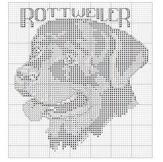 Rottweiler X-stitch chart Beaded Cross Stitch, Cross Stitch Embroidery, Cross Stitch Patterns, Pixel Crochet Blanket, Filet Crochet, Plastic Canvas Crafts, Plastic Canvas Patterns, Pixel Art, Cross Stitch Boards