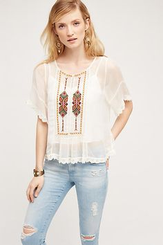 Keira Lace Blouse - anthropologie.com