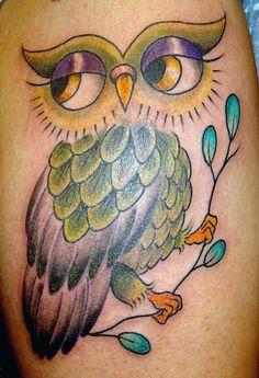 owl tattoo by viciousvelvets, via Flickr