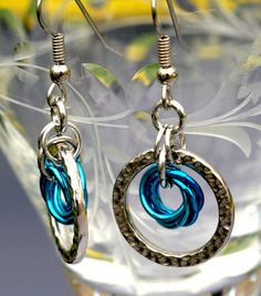Anthea  Aluminum chainmaille earrings by EclecticArtbyCynthia, $14.00