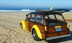 Vw. Beetle woody beach