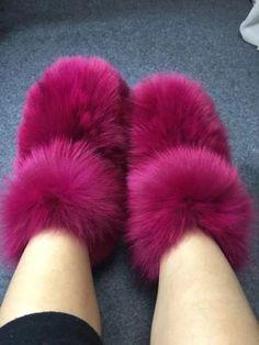 Fashion Eskimo Women Winter Big Fluffy Boots Fox Fur Luxury Multi Color Boots