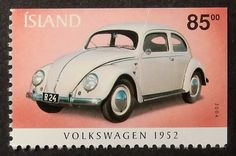 12779 - Framed Postage Stamp Art - Volkswagen Beetle 1952 - Car on Etsy, $14.90