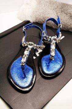 Morpheus Boutique  - Blue Crystal  Strap Flat Lady Sandals Shoes, $79.99 (http://www.morpheusboutique.com/blue-crystal-strap-flat-lady-sandals-shoes/)