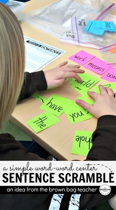 Such a simple idea for Daily 5 Word Work! So easy to differentiate, too.