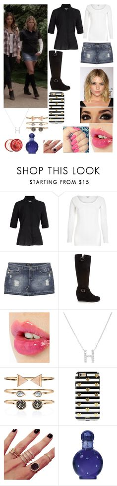 """""""Hanna Marin"""" by emmadawson619 ❤ liked on Polyvore featuring Splendid, River Island, Wet Seal, Forever 21, Charlotte Tilbury, Plukka, Accessorize, Sonix, Melanie Auld and Britney Spears"""