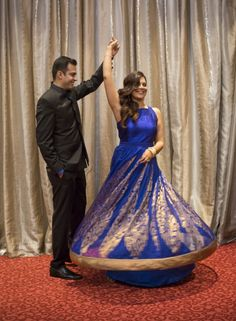 Ink blue - gorgeous for your sangeet!