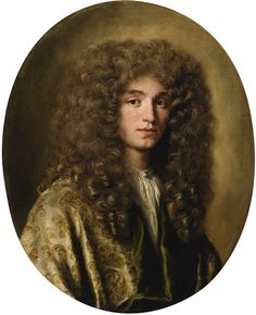 Jacob Ferdinand Voet ANVERS 1639 - 1689 PARIS PORTRAIT OF A MAN WEARING A WIG Oil on canvas 74 x 61 cm ; 29 1/4  by 24 in