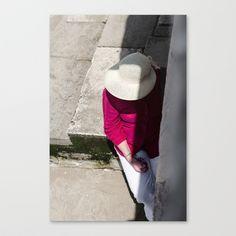 Pensées Stretched Canvas by Sébastien BOUVIER - $85.00 Panama Hat, Art Prints, Stretched Canvas, Mini, Hats, Portugal, Thinking About You, Art Impressions, Hat
