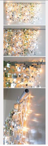 Mirrors + lights = modern romantic