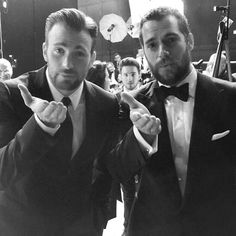 Chris and Henry backstage at the BAFTA Awards. Feb. 8, 2015