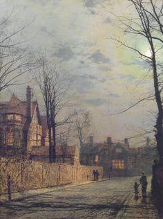 Moonlit Street Scene, John Atkinson Grimshaw