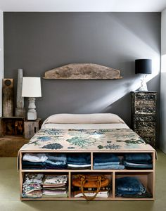 Creative Storage Ideas for Small Space Bedroom Creative Storage Ideas for Small Spaces Better Homes Gardens small bedroom storage ideas ch. Small Space Storage, Under Bed Storage, Storage Spaces, Extra Storage, Bench Storage, Hidden Storage, Storage Boxes, Plywood Storage, Plywood Boxes