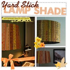 yard stick lamp shade diy | LUUUX
