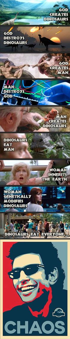 After watching the trailer for 'Jurassic World' - this comes to mind.