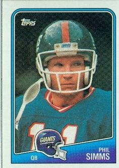 1988 Topps #272 Phil Simms - New York Giants (Football Cards) by Topps.