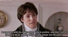 Jane Austen ♥ Favorite movie of all time....and this part always makes me cry!