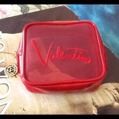 "Valentino mesh pouch Never used and super cute! Measurements are 4"" X 5"" X 2"". PRICE FIRM. Valentino Accessories"