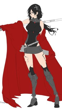 """Bach on Twitter: """"Im back with a new #RWBY WIP !!!… """" / Robo-Ruby!"""