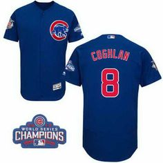 2e67ba424 Men s Chicago Cubs Stitched 2016 World Series Champions Patch Chris Coghlan  Royal Blue Majestic Flex Base Jersey