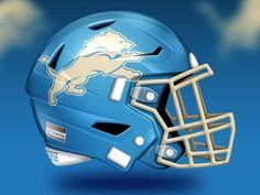 Nfl Football Helmets, Detroit Lions Football, Football Pics, American Football, New Helmet, Helmet Logo, Detroit Lions Helmet, Nfl Team Colors, Exercises