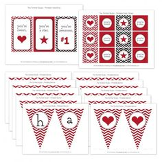 12 Free Valentine Printables for Parenting Magazine!