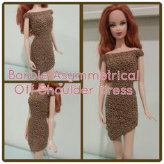This hub is a free crochet pattern for Barbie Asymmetrical Off Shoulder Dress.