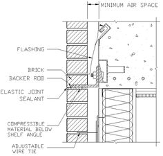 Elevation of an anchored masonry veneer wall system