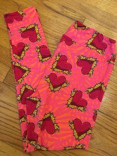 Lularoe Tc Leggings New Deep Bright Pink Beautiful For Your Consideration Leggings