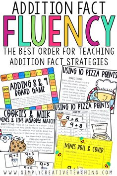 Help your students build addition fact fluency automaticity with these addition fact strategies. These addition facts to 20 strategies include doubles and doubles plus one, make 10 to add, and ways to make 10. These fun math fact fluency games and activities are perfect for first grade and second grade students. Activities include: board games, matching activities, printable games, and more!