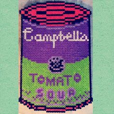 Campbell's Soup perler beads by kelseykels92