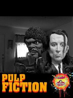 PUlp fiction, tiempos violentos, Tarantino, plastilina, cole porcelain